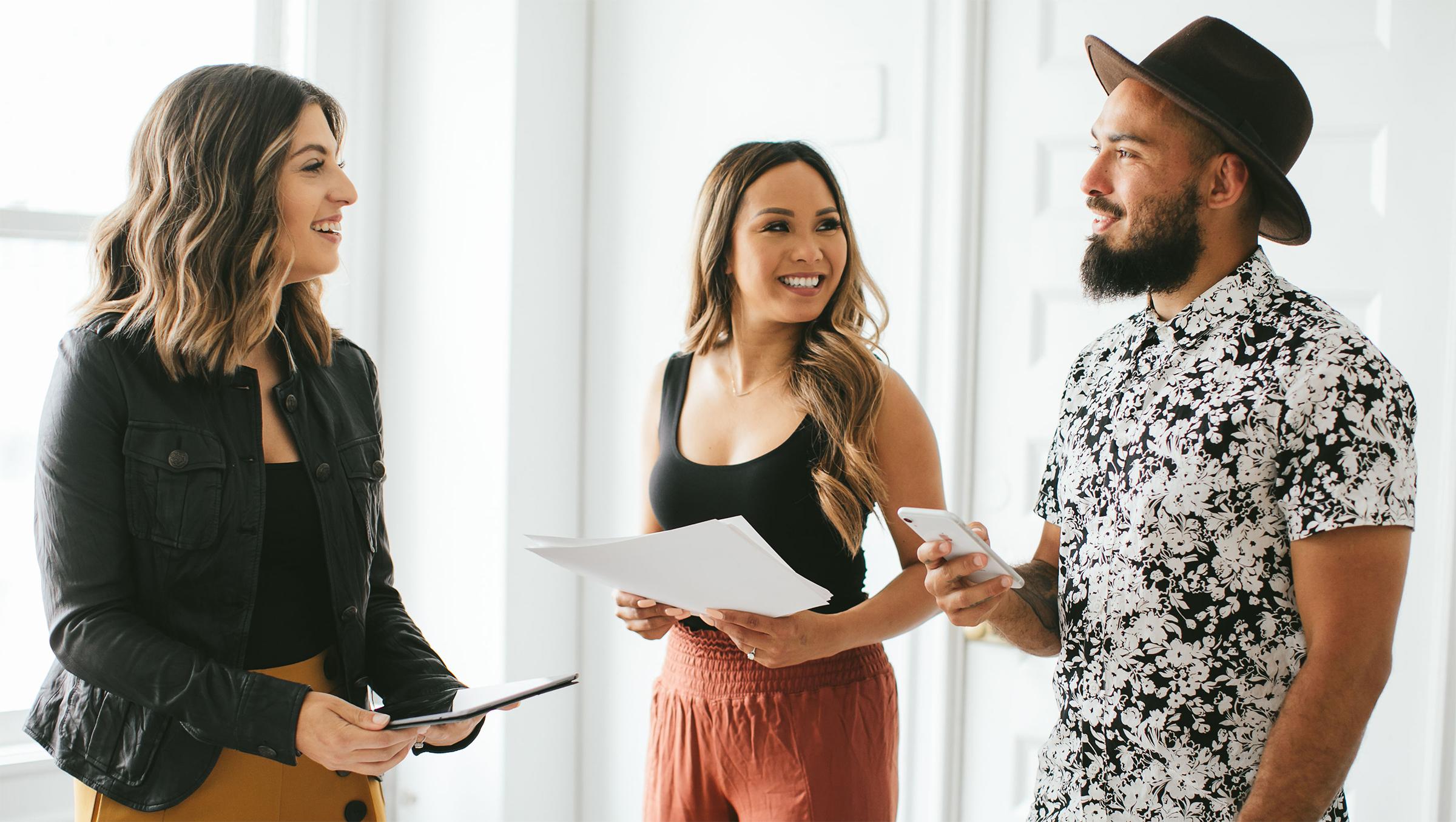 Carolina Andes Laura Layugan Moore Keone Moore Brand Strategy Meeting
