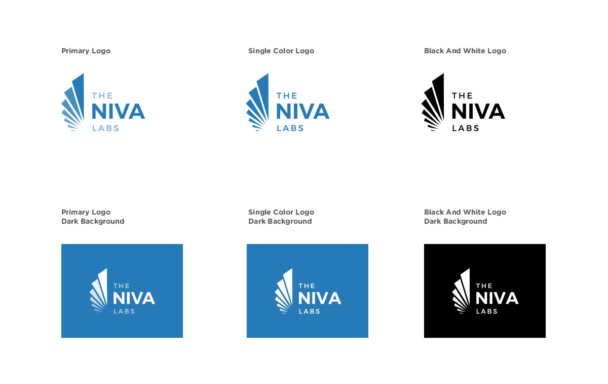 Primary Logo with Gradient, Single Color, Black and White Color