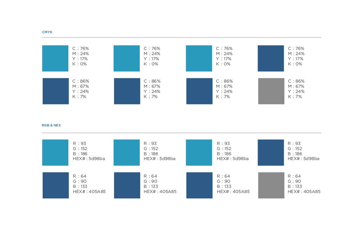 Brand Colors for The Niva Labs: Shades of Blue